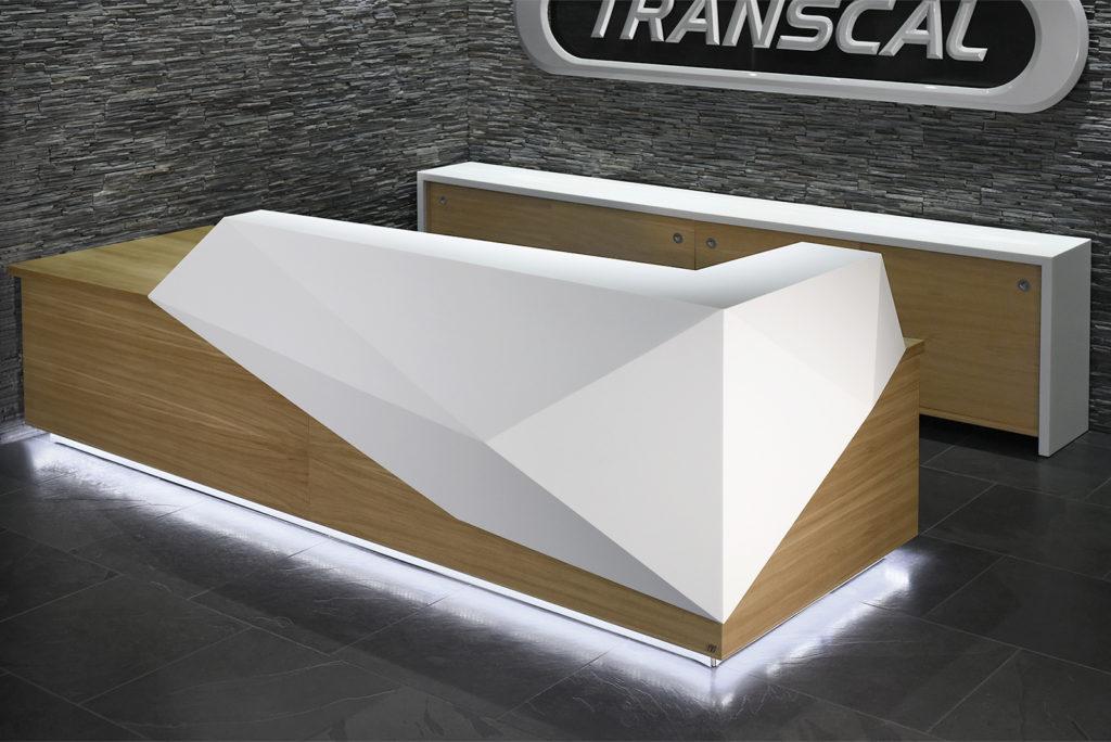 Transcal reception desk