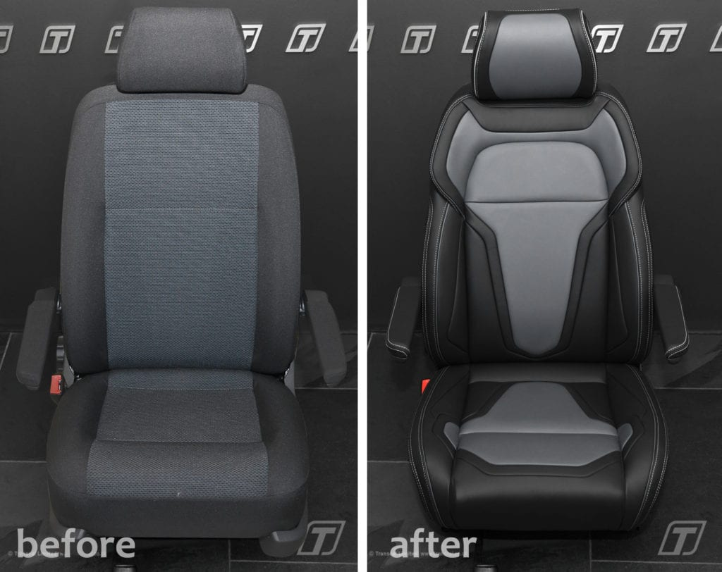 Transcal Sports-Luxury VW Transporter T6 seating upgrade.