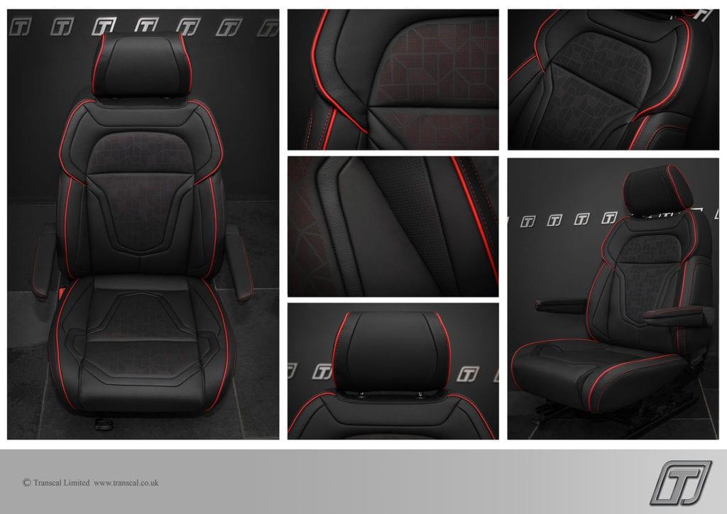 Transcal Sports-Luxury VW Transporter T6 seating upgrade