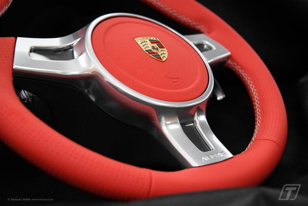 Porsche Boxter S steering wheel